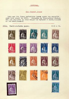 PORTUGAL CERES 1912/31 M&U Collection (Appx 150) DAB 133