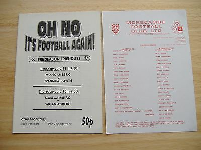 Morcambe v Tranmere/Wigan Athletic, Friendly's 18/20 July 1995