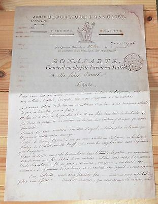 1796 Napoleon proclamation to his Brothers in Arms