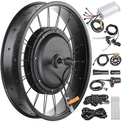 "48V 1000W 20"" Electric E-Bike Front Wheel Bicycle Motor Conversion Kit Fat Tire"