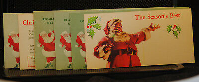 7 Vintage 1950's Coca-Cola Promo Coupon ~ Merry Christmas! ONE MONEY MINT