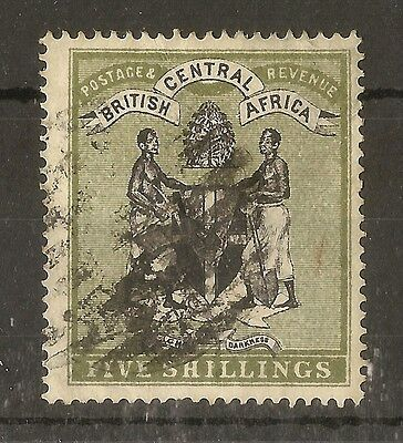 Br Central Africa 1895 5/- Arms SG28 Used