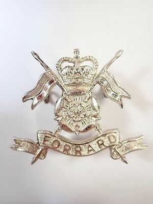 Queens Own Yorkshire Yeomanry original (Post 1953) Officers Cap Badge.