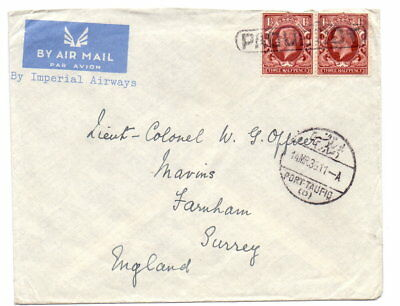 EGYPT 1936 AIR COVER - TWO x 1½d GB PAQUEBOT & I.A.