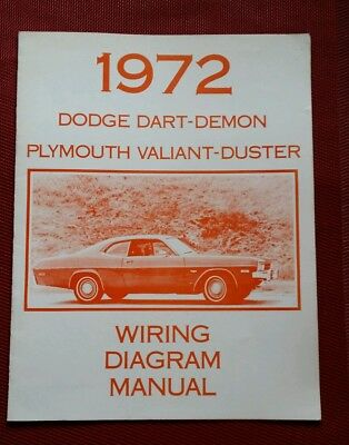 1972 DODGE DART DEMON PLYMOUTH VALIANT DUSTER WIRING DIAGRAM MANUAL 72 demon wiring diagram red haired demon, huge demon, chained ufo-3aw wiring diagram at nearapp.co