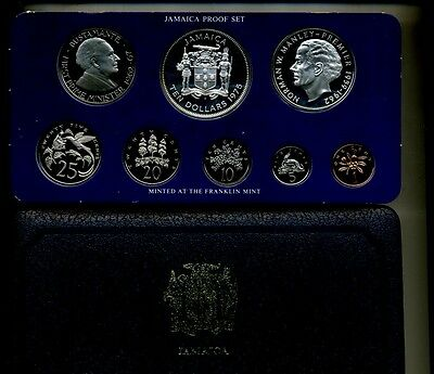 1975 Jamaica 8 Coin Silver Proof Set