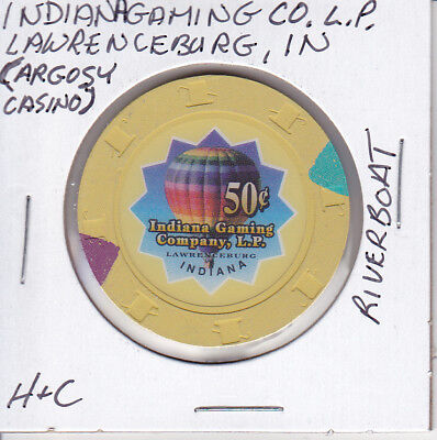 Casino Chip Token $.50 Fract. Argosy Casino Lawrenceburg, In Tribal H&c Mold