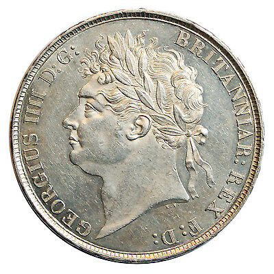 1821 Crown, George Iv Laureate Head, Secundo, High Grade