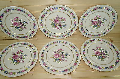 Castleton Manor Lot of (6) Dinner Plates 10 3/4""