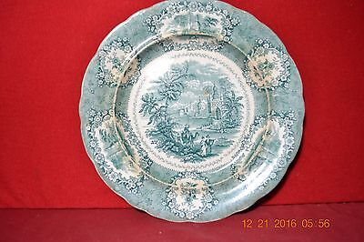 Early Ironstone Green Oriental Plate Charger