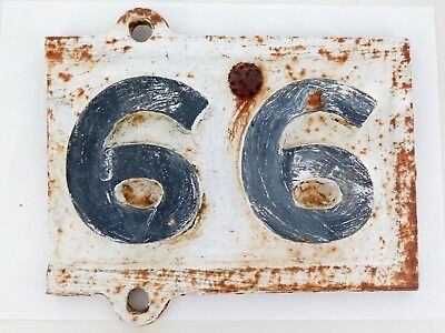 """.EXCEEDINGLY RARE QLD RAIL EARLY 1900s """"99 66 MILES TO?"""" CAST IRON MILEAGE SIGN"""