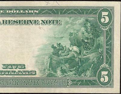 LARGE 1914 $5 DOLLAR BILL FEDERAL RESERVE NOTE BIG PAPER MONEY CURRENCY Fr 855a