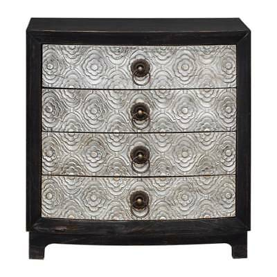 Uttermost 25763 Ramila 32 Inch Wide 4 Drawer Wood Dresser with Brass Drawer Pull