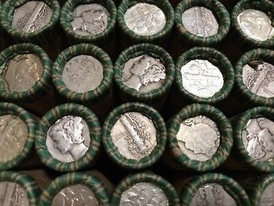 Sealed $5 Roll 90% Silver Dimes PDS Mix Roosevelt, Mercury, Barber? Lot 8a