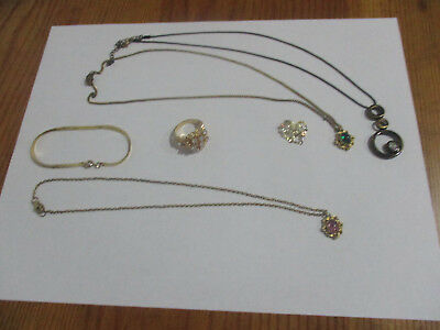 Mixed Lot of Vintage and Modern Jewelry  Costume and glammor Jewelry Used