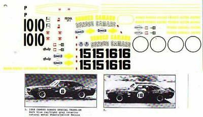 Fred Cady Decal  #3 To Do The 1968 Camaro Sunoco Special Trans-AM
