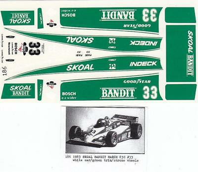 Fred Cady Decal #186 1983 Skoal Bandit March 83C #33