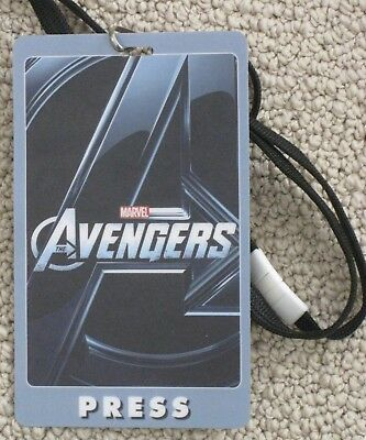 Marvel The Avengers 2012 Movie Official Promotional Screening Press Pass