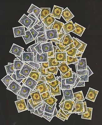 Canada 2017 Flowers Coil 100 Used Sets ( 200 Stamps)
