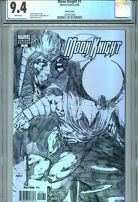 Moon Knight #1 CGC 9.4 Finch Sketch Cover Marvel Comics 2006