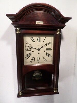 German Triple Chime Howard Miller Wall Clock With Presentation Plaque