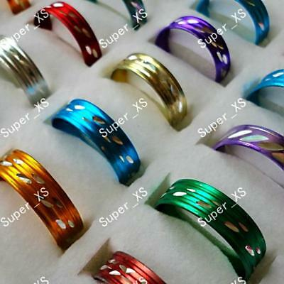100pcs Aluminum alloy  Rings Wholesale jewelry lots New free shipping