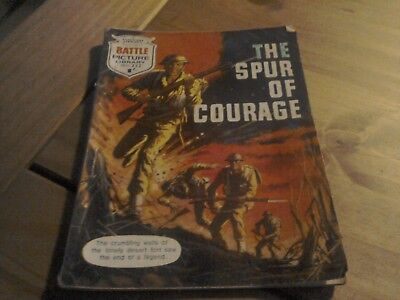 Battle Picture Library Comic  No 252 The Spur of Courage 1966.