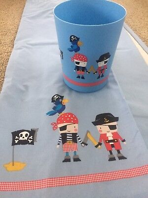 "Next Blue Pirate Curtains 66"" Width X 54""Depth Blackout Lining"