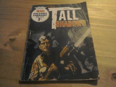 War Picture Library Comic  No 143 Tall Shadows 1962.