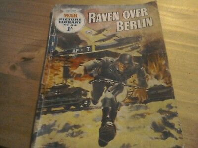 War Picture Library Comic  No 44 Raven Over Berlin 1960.