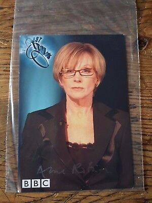Anne  Robinson   Weakest  Link  Tv         Hand  Signed  Photo  Card