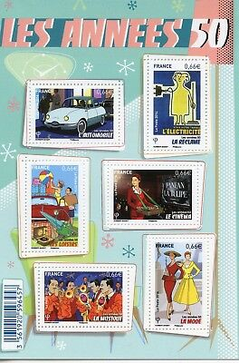 Stamp / Timbre France  Bloc Feuillet Neuf N° F4875 ** Les Annees 50