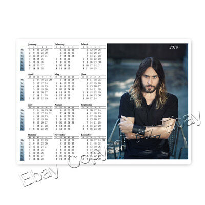Jared Leto - Actor | 30 Seconds to Mars - Taschen Kalender 2018 laminiert  [K4]