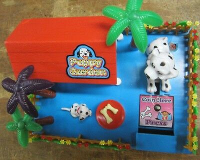Everlast Puppy Bank Machine Bank vintage wind up working Dalmatian mechanical