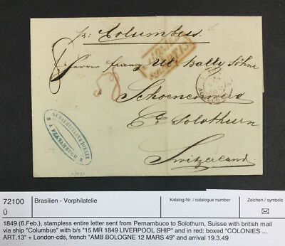 Momen: Brazil # Stampless Cover $100 Lot #7232