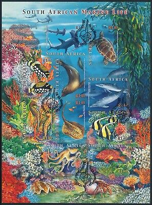 "South Africa 2001 ""Marine Life"" Sheet of (10) x R1.40 Self-Adhesive stamps"