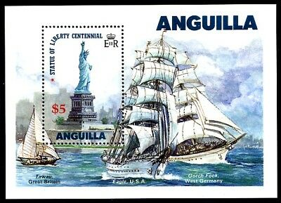 Anguilla, 663, S/s, Mnh, Fvf, Perf., 1985 - Operation Sail.