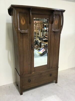 Antique Arts And Crafts Wardrobe Art Nouveau Wardrobe Manner Of Shapland Petter