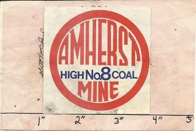 "Amherst Coal Co - Hard Hat- Coal Mining Sticker-Decal ""rare"""