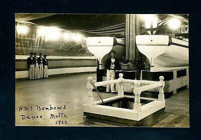 Malta  1922  HMS Benbows on Deck  Postcard    (O1448)