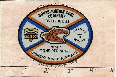 """Consolidation Coal Co - Hard Hat- Coal Mining Sticker-Decal """"old"""""""