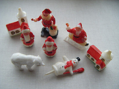 Plastic Cake Decorations For Christmas : Vintage Father Christmas Santa and Tree Cake Decoration ...