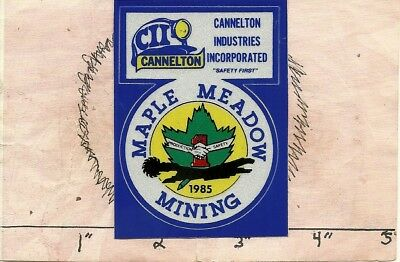 """Cannelton Industries Coal Co - Hard Hat- Coal Mining Sticker-Decal """"rare"""""""