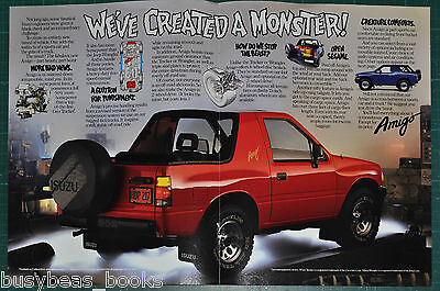 1989 ISUZU AMIGO 4-page advertisement, We've Created A Monster!