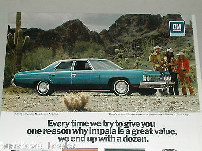 1973 CHEVROLET IMPALA advertisement, Chevy Impala Sedan