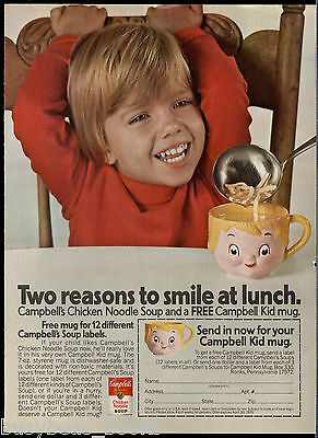 1976 CAMPBELL SOUP advertisement, Campbell's Kids Mug Offer, Happy boy