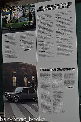 1977 FIAT 131 2-page advertisements x2, Fiat 131 sedans full-page photos