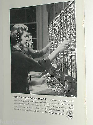 1950 Bell telephone advertisement, WOMAN OPERATORS at switchboard