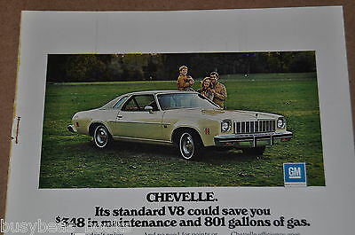 1975 CHEVROLET Chevelle advertisement, Chevrolet CHEVELLE, Chevy