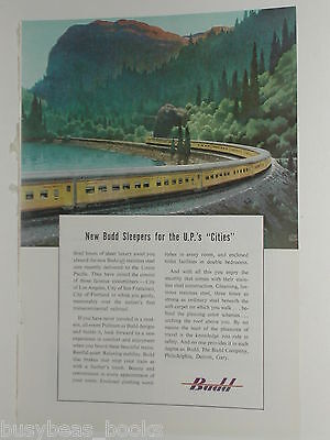 1950 Budd Co. ad, Union Pacific RR, City of… trains